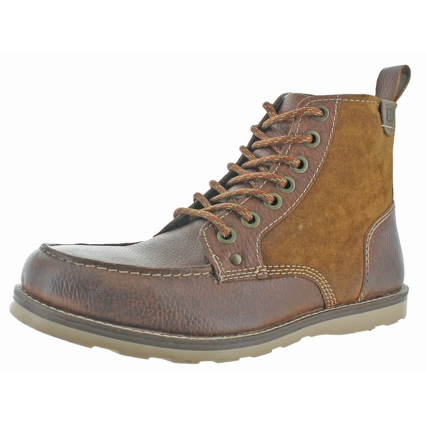 Crevo Elk Men's Leather Ankle Carpenter Boots