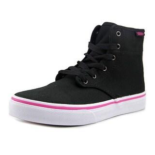 Vans Camden Hi Zip Youth Round Toe Canvas Black Skate Shoe