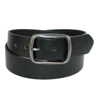 CTM® Men's Casual Center Bar Buckle Belt