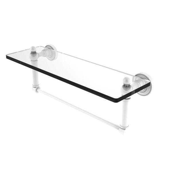 Allied Brass Dottingham Glass Vanity Shelf with Integrated Towel Bar