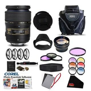 Tamron SP 90mm f/2.8 Di Macro Autofocus Lens for Nikon Pro Accessory Kit - Black