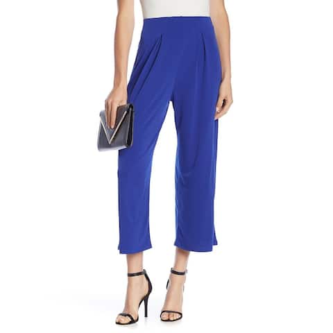 CAD Blue Women's Size Large L Capris Cropped Stretch Pull-On Pants