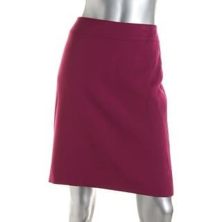 Tahari ASL Womens Petites Elaine Back Slit Casual Pencil Skirt
