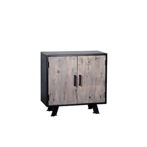 Cosmopolis Solid Wood Iron Chest