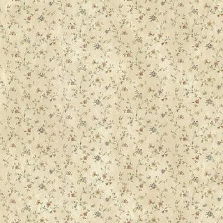 Brewster CTR44006 Shelby Rose Calico Floral Wallpaper - rose calico
