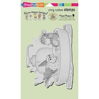 Bird Bath - Stampendous House Mouse Cling Stamp