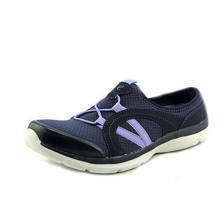 Easy Spirit e360 Quade Women Round Toe Canvas Blue Mules