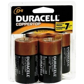Duracell Coppertop D Alkaline Batteries 1.5 Volt 4 Each