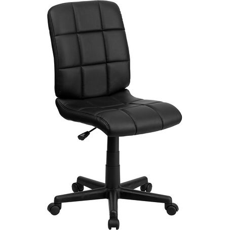 Alexandria Bay Mid-Back Black Quilted Vinyl Swivel Home/Office Task Chair