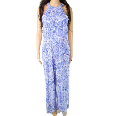 Jude Connally Women's Jumpsuit Blue Size Medium M Paisley Jersey