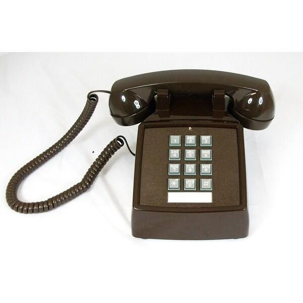 Cortelco ITT-2500-V-BRM 250045-VBA-20M Desk w/ Volume - Brown