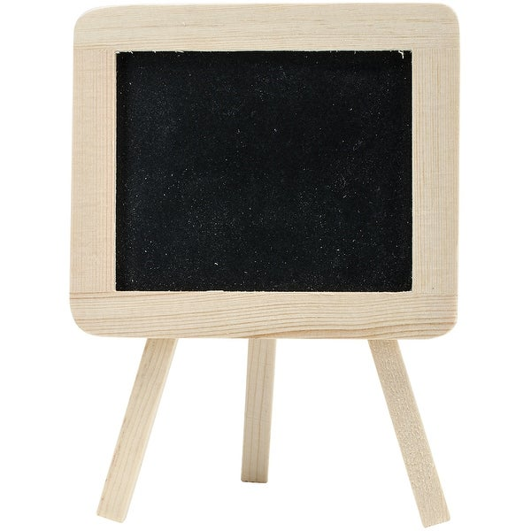 "Wood Craft DIY Chalkboard Easel 5.5""X4""-"
