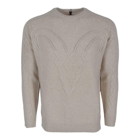 Robert Graham R Collection FORTITUDE Cream Cashmere RAM Sweater