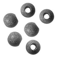 Gunmetal Plated Stardust Sparkle 12mm Round Beads European Style Large Hole (10)