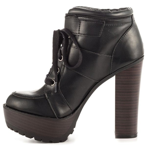 Just Fab Womens JF Kourtney Closed Toe Ankle Fashion Boots