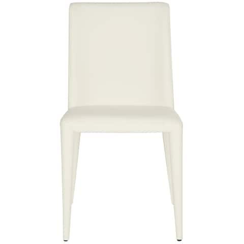 "Safavieh Mid-Century Dining Garretson White Dining Chairs (Set of 2) - 22.5"" x 17.4"" x 33.5"""