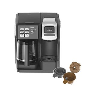 Hamilton Beach 49976 FlexBrew 2-Way Coffee Maker, Plastic, Black