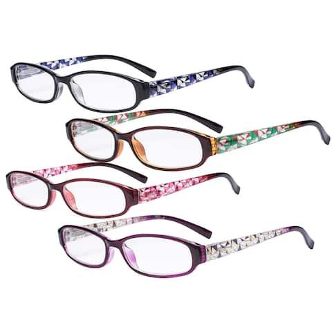 Eyekepper 4 Pack Print Women Reading Glasses Stylish Small Readers