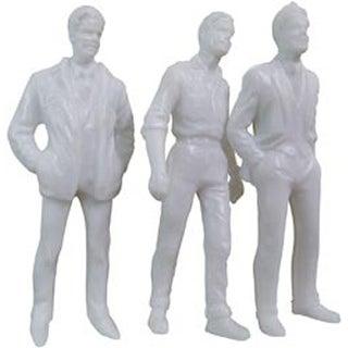 """White - Male Figures 3"""" 3/Pkg"""