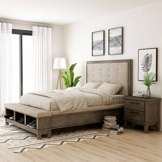 Furniture of America Trom Transitional Grey 2-piece Bedroom Set