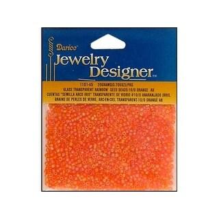 Darice JD Seed Bead 10/0 Transparent Orange AB
