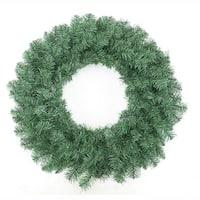 "30"" Green Point Pine Artificial Round Christmas Decorative Wreath - Unlit"
