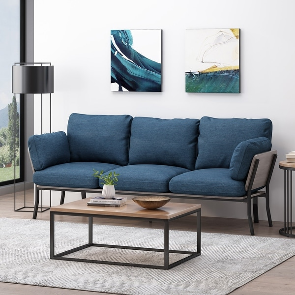 Carvel Mid-century Modern 3-seater Sofa by Christopher Knight Home. Opens flyout.