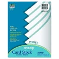 Array Acid-Free Heavy Weight Card Stock, White, Pack - 100