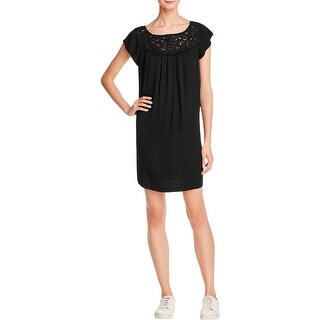 Joie Womens Tunic Dress Crochet Drapey