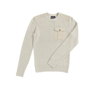 American Rag Men's Uniformity Sweater (S, Oat Heather) - oat heather - S