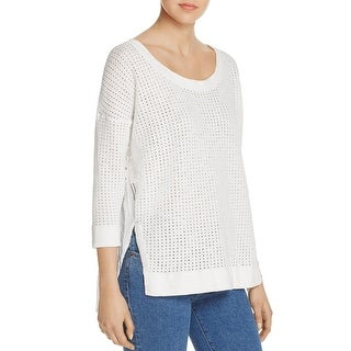 French Connection Womens Blouse Knit Eyelet