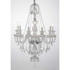 """Crystal Chandelier H37"""" x W26""""! Trimmed with SPECTRA(tm) CRYSTAL Reliable crystal quality by Swarovski®"""
