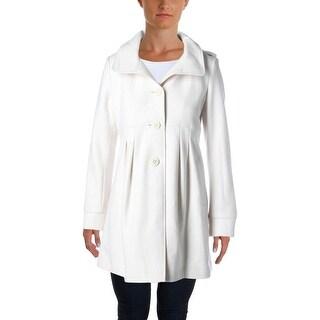 DKNY Womens Wool Hooded Coat - 6
