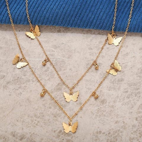 Spread Your Wings and Prepare to Fly Gold Plated Necklace
