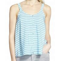 Chelsea28 NEW Blue Printed Stripe Women's Size Small S Tank Cami Top