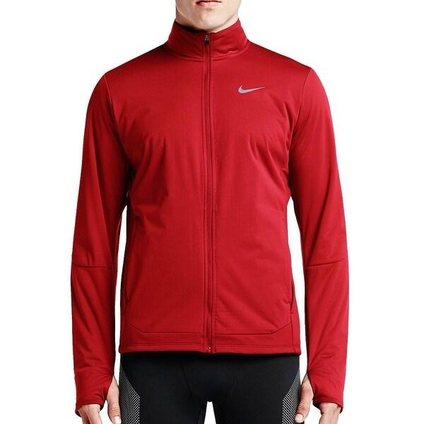 ee6741e63daf Shop Nike Men s Shield Full-Zip Jacket University Red Extra Large ...