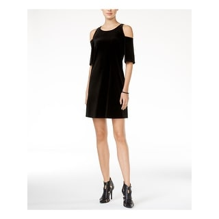 Link to BCBGENERATION Black Short Sleeve Above The Knee Sheath Dress  Size M Similar Items in Dresses