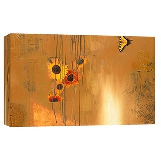 """PTM Images 9-101890  PTM Canvas Collection 8"""" x 10"""" - """"Sunflower Sweet Fade"""" Giclee Abstract Art Print on Canvas"""