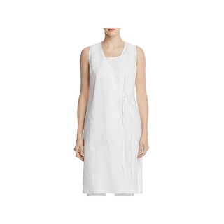 Eileen Fisher Womens Wrap Top Linen V-Neck