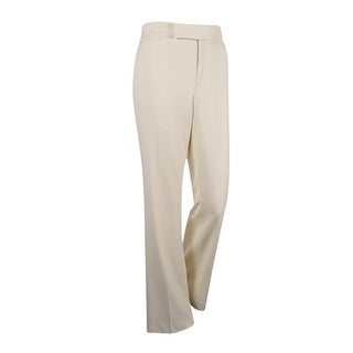 Lauren Ralph Lauren Women's Stretch Twill Flared Pants (Ivory, 6)