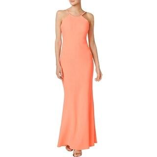 Calvin Klein Womens Evening Dress Halter Sleeveless