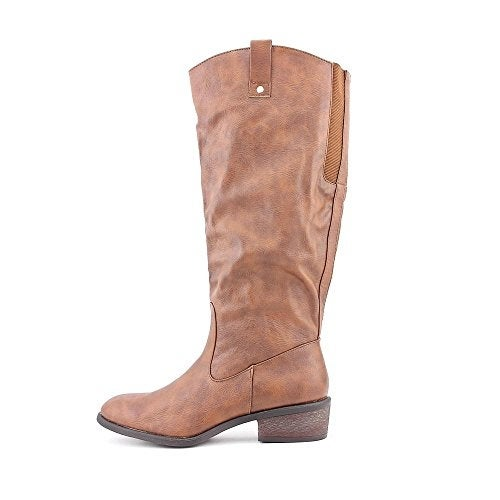 Pink & Pepper Womens Reggie Wide Calf Almond Toe Mid-Calf Fashion Boots