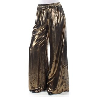 Womens Gold Party Pants Size S