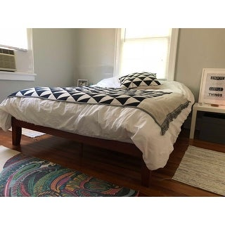 Shop Porch U0026 Den Leonidas Monticello 12 Inch Solid Wood Queen Size Platform  Bed   Free Shipping Today   Overstock.com   18116269