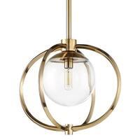 """Craftmade 45591 Piltz 1-Light 14-1/2"""" Wide Pendant with Clear Glass Shade - Satin brass - n/a"""