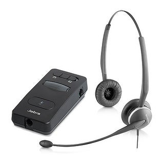 Jabra GN 2125 Duo Noise-Canceling Microphone Corded Headset w/ Link 860 Headset Amplifier