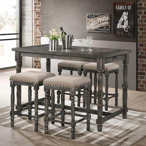 Best Master Furniture 5-piece Counter Height Dining Set w/ Storage