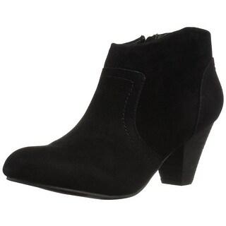 XOXO Womens Aldenson Fabric Closed Toe Ankle Fashion Boots