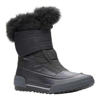 Clarks Women's Gilby Merilyn Waterproof Boot Black Full Grain Leather