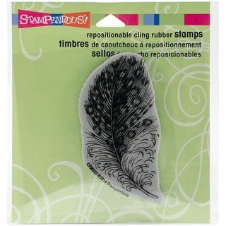 "Stampendous Cling Stamp 3.5""X4"" -Spotted Feather"